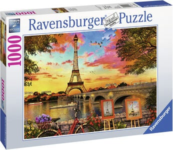 Ravensburger Puslespill The Seine Paris 1000 Brikker