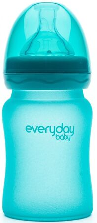 Everyday Baby Tåteflaske Glass med Varmeindikator 150ml, Turquoise