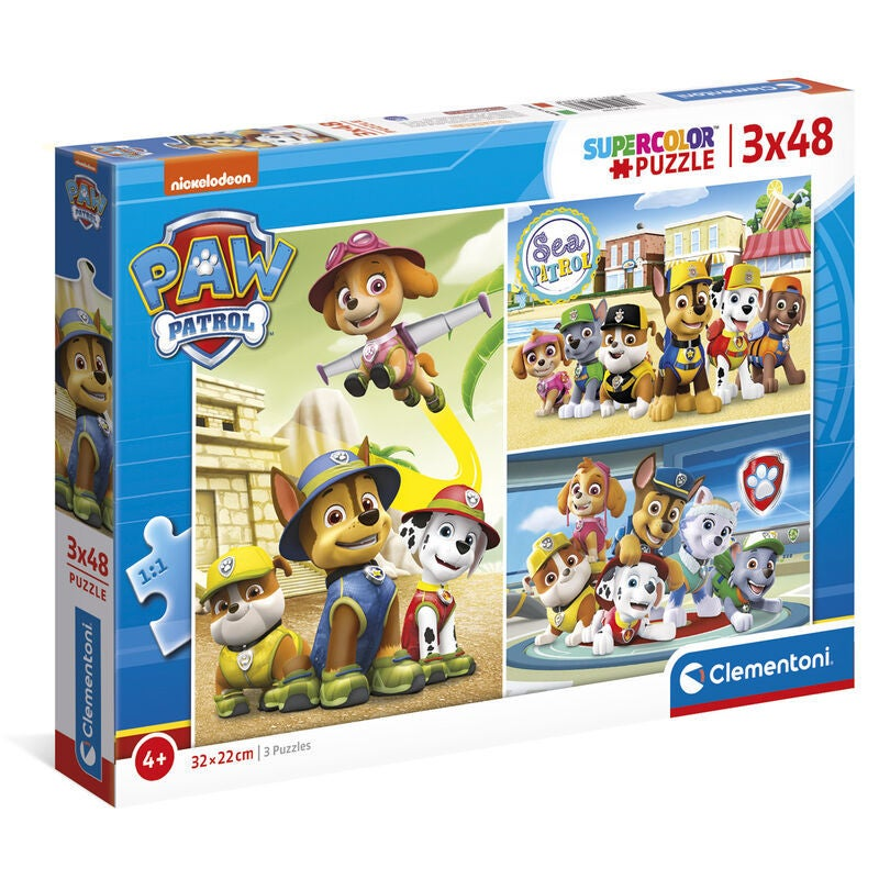 Paw Patrol Puslespill 3x48 Brikker