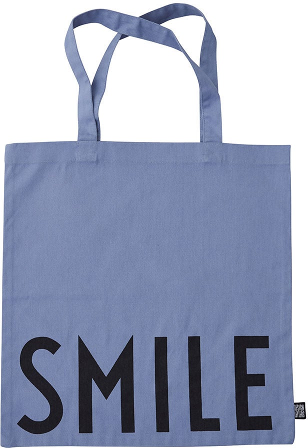 Design Letters Favourite Tøypose Smile, Blue