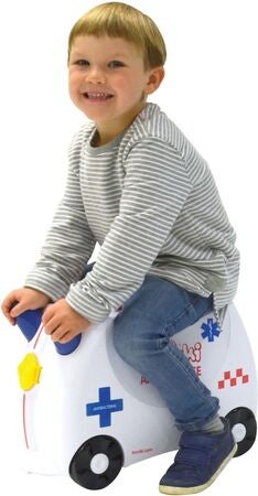 Trunki Abbie The Ambulance Trillekoffert 18L, White