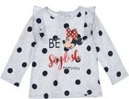 Disney Minni Mus Langermet T-skjorte, Light Grey