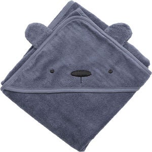 Sebra Badecape Milo The Bear, Bamble Blue