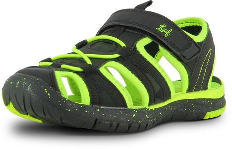 Leaf Salo Sandal, Black/Lime