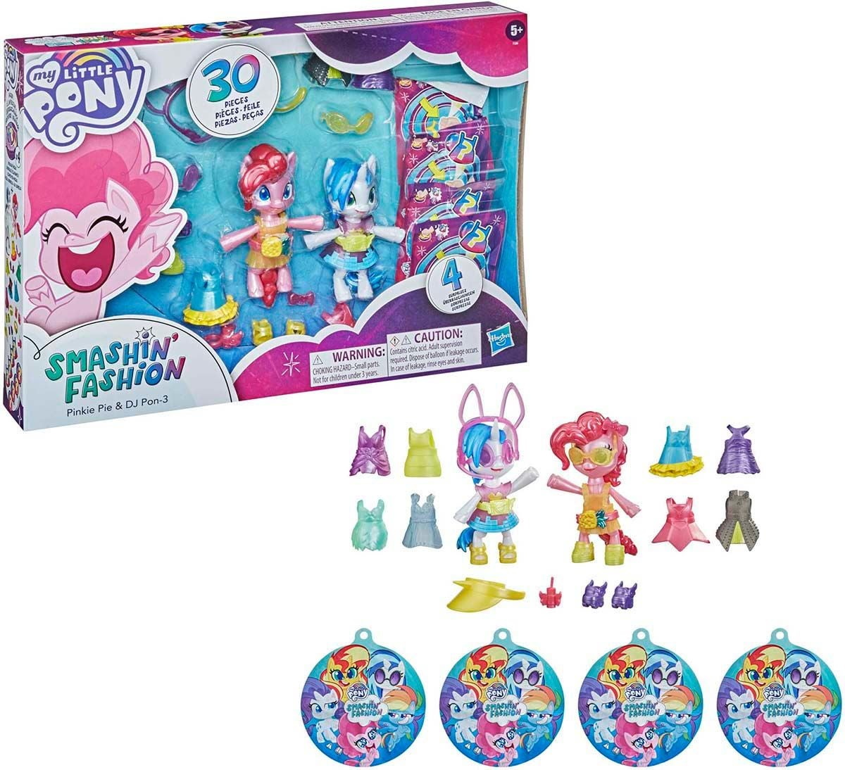 My Little Pony Figur Smashin Fashion Pinkie Pie & Dj Pon-3