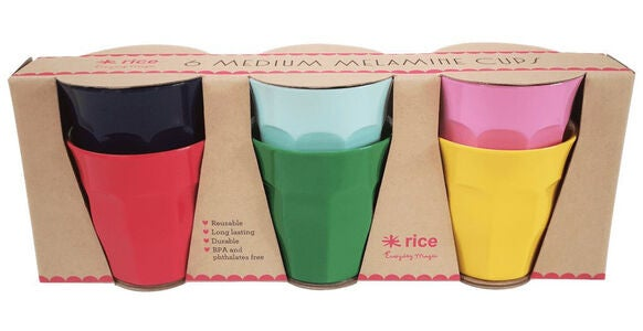 Rice Krus Melamin Favorite Colors 6-pack