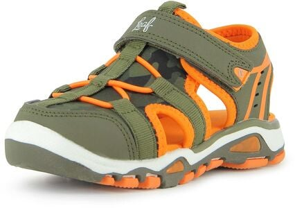 Leaf Halmby Blinkende Sandal, Khaki/Orange