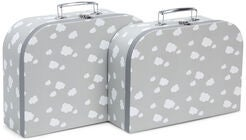 Cloudberry Castle Pappkoffert 2-pack, Soft Grey