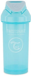 Twistshake Sugerørkopp 360 ml 6+ m, Pastel Blue
