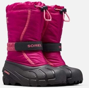 Sorel Youth Flurry Vintersko, Deep Blush/Tropic Pink