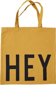 Design Letters Favourite Tøypose Hey, Mustard