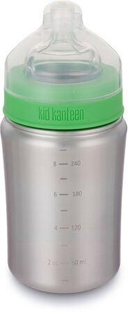 Klean Kanteen Vannflaske Medium Flow Nipple 266ml, Brushed Stainless
