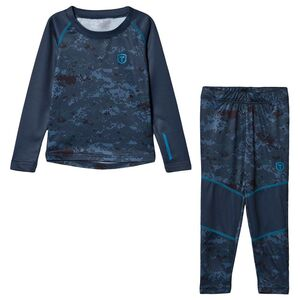Tenson Billy Set Print Jr Undertøy, Dark Grey
