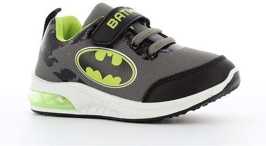 Batman Blinkende Sneakers, Grey/Neon Yellow
