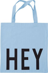 Design Letters Favourite Tøypose Hey, Light Blue