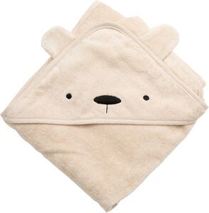 Sebra Badecape Milo The Bear, Dusty Pink