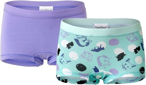 Pierre Robert Kids Boxer 2-pack, Mint/Lilac