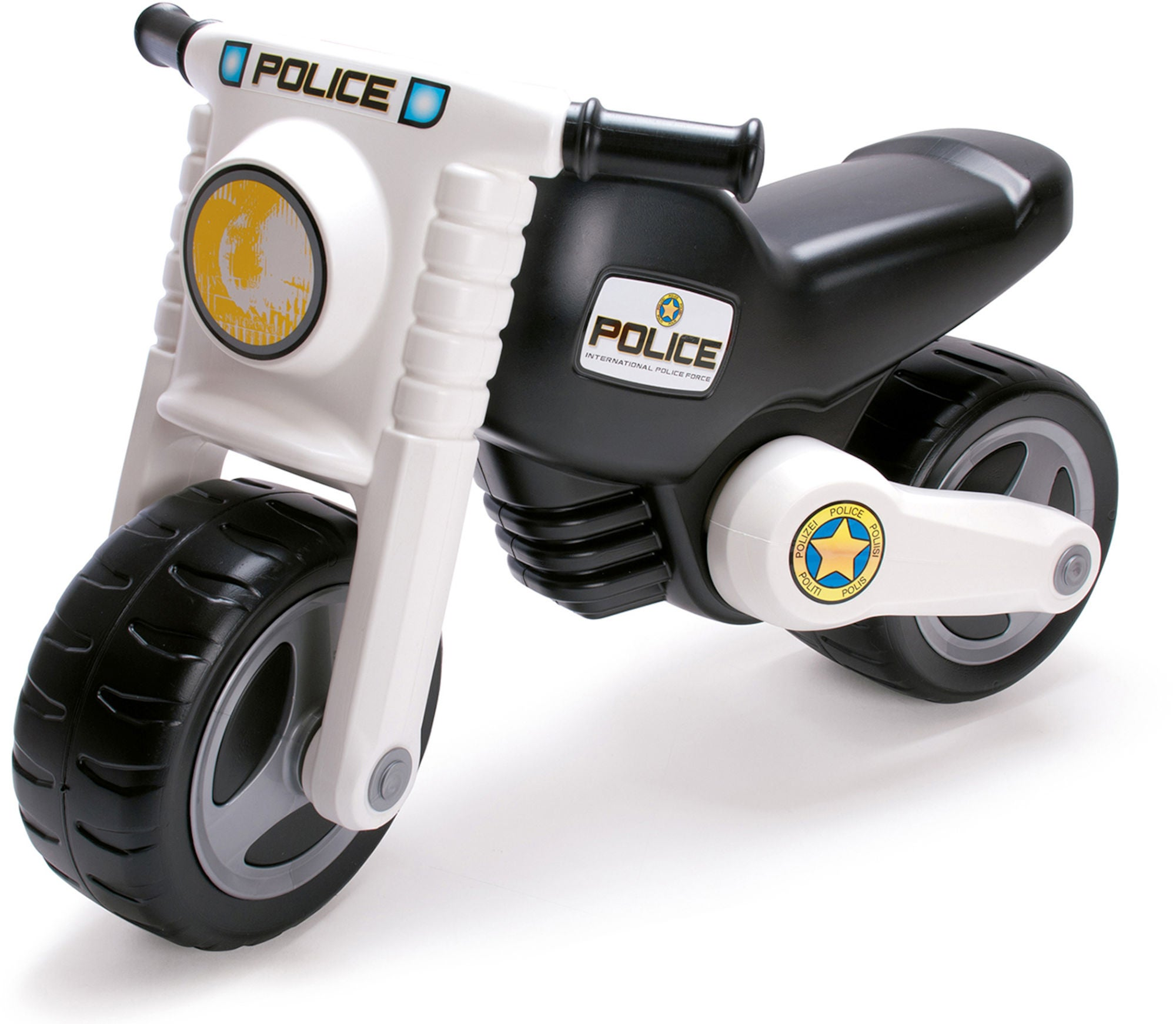 Dantoy Motorsykkel Politi, Svart/Hvit
