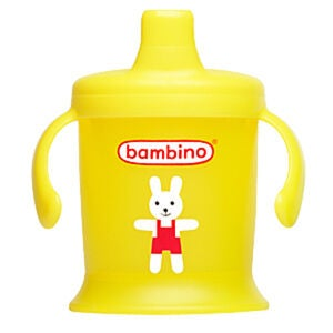 Bambino Spill Proof Cup w. Print 220ml Gul