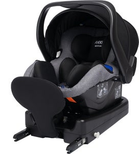 Axkid Modukid Infant Babybilstol, Grey Inkl. Base