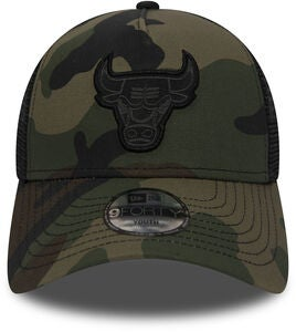 New Era Trucker Kids Chicago Bulls Kaps, Woodland Camo Black