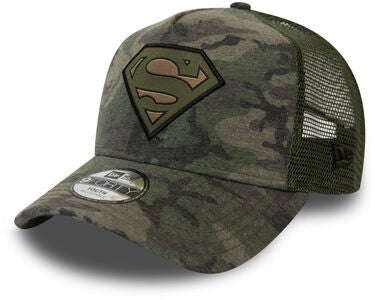 New Era Camo 9FORTY TRUCKER Superman Kaps, Woodland Camo