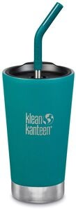 Klean Kanteen Insulated Tumbler med Sugerørlokk 473ml, Emerald Bay