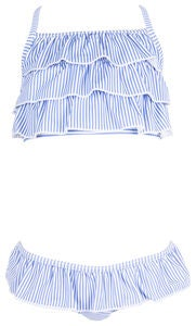 Max Collection Bikini, Light Blue /White