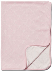 Minitude Scallop Teppe 2-Pack, Chalk Pink/White