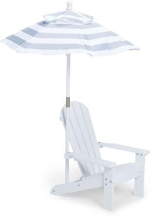 Kjøp Woodlii Strandstol Med Parasoll, GråHvit | Jollyroom