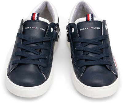 Tommy Hilfiger Low Cut Lace Sneakers, Blue/White
