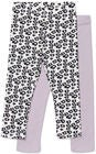 uca & Lola Alberta Leggings 2-Pack, Purple/White