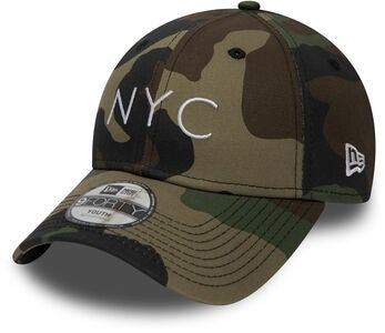 New Era 9Forty Kids Kaps, Woodland Camo White