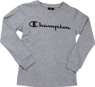 Champion Kids Langermet T-Shirt, Grey Melange Light