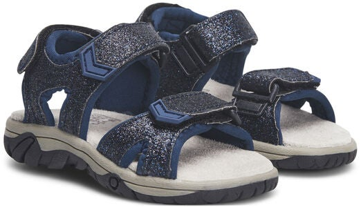 Little Champs Race Glitter Sandalerer, Navy