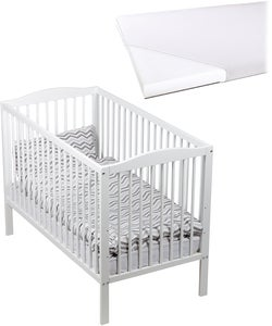 JLY Dream Sprinkelseng med BabyMatex Softi Madrass 60x120, Hvit