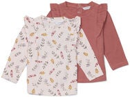 Luca & Lola Lina Topp 2-pack Baby, Flowers/Pink