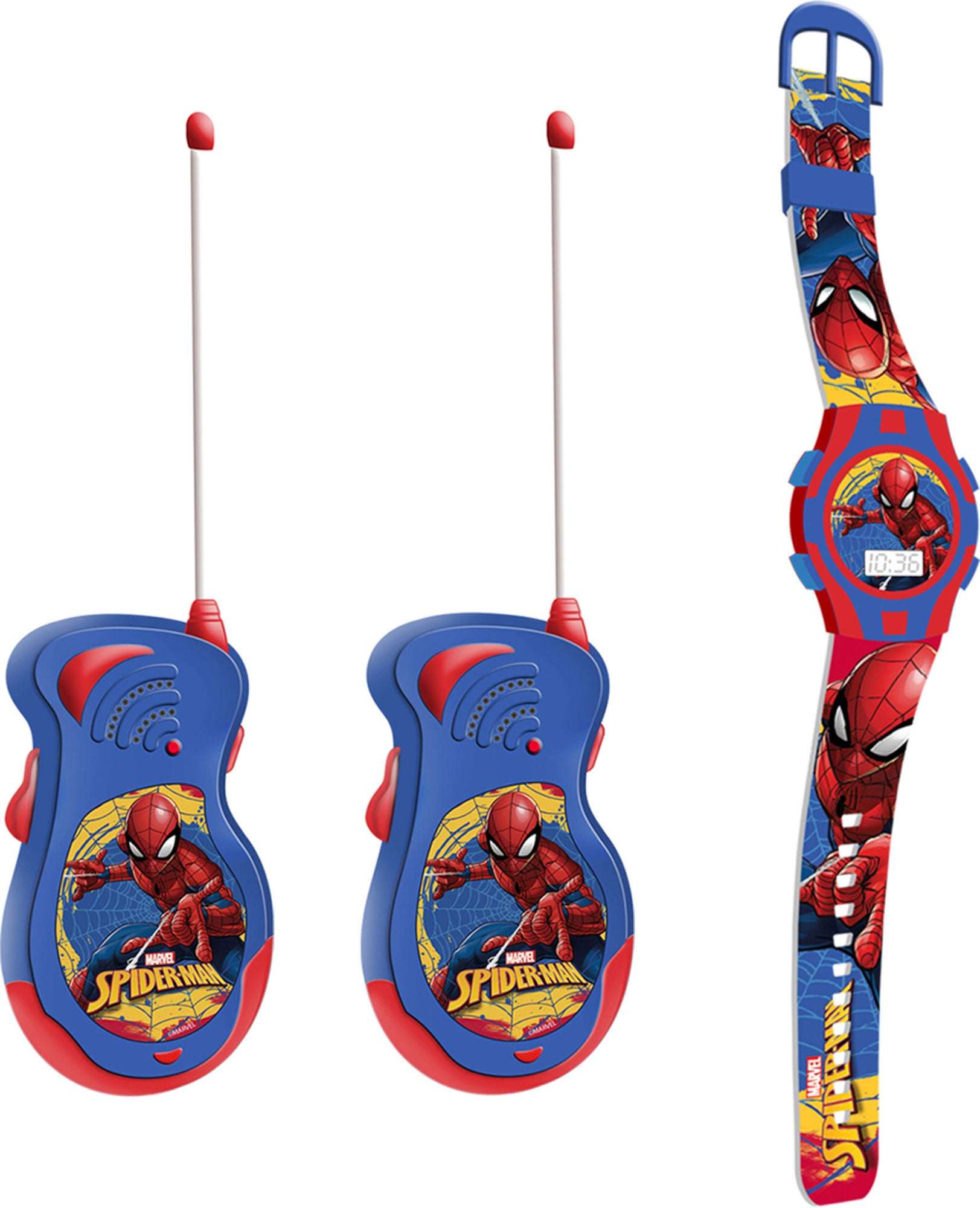 Marvel Spiderman Walkie Talkies og Klokke