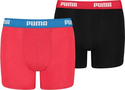Puma Basic Boksershorts 2-Pack, Red/Black