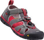 KEEN Seacamp II CNX Youth Sandaler, Magnet/Racing Red