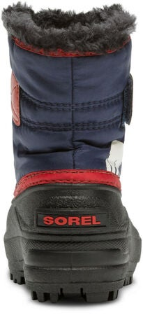 Sorel Children's Snow Commander Vinterstøvel, Nocturnal/Sail Red
