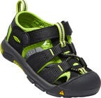 KEEN Newport H2 Toddlers Sandal, Black/Lime Green