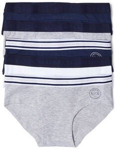 Luca & Lola Claudia Hipstertruse 5-pack, Navy/Grey