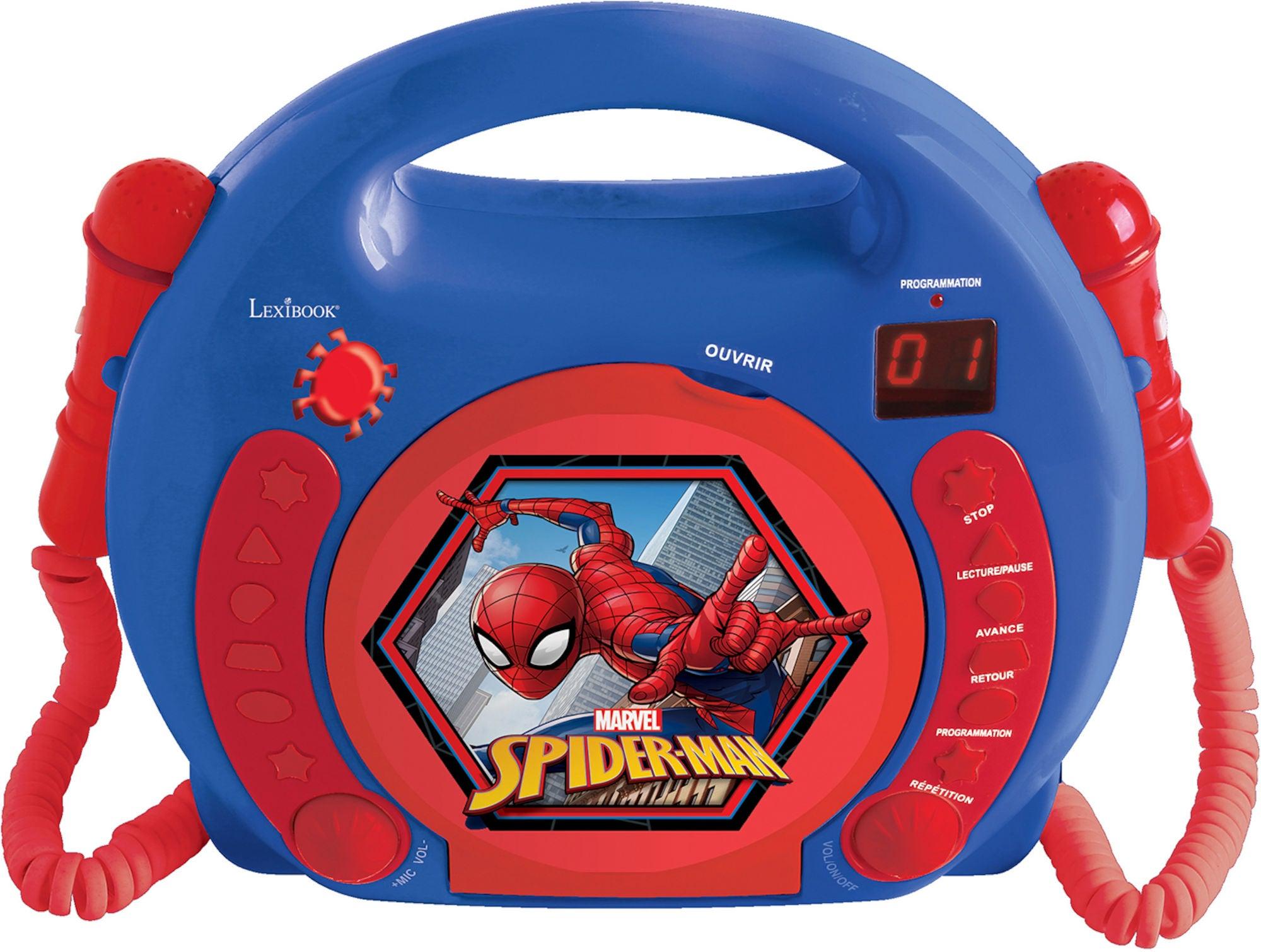Marvel Spider-Man CD-spiller med Mikrofon