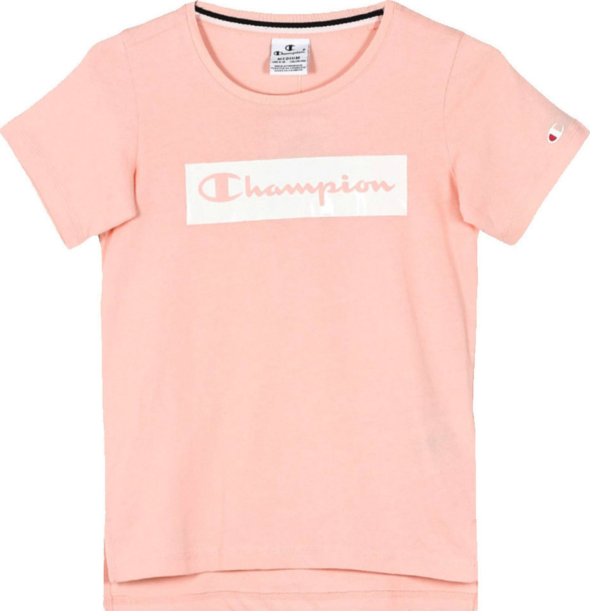 32009719 Kjøp Champion Crewneck T-Shirt, Impatiens Pink | Jollyroom