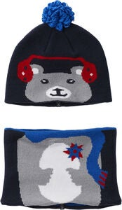 Columbia Snow More Lue & Hals, Collegiate Navy Bear