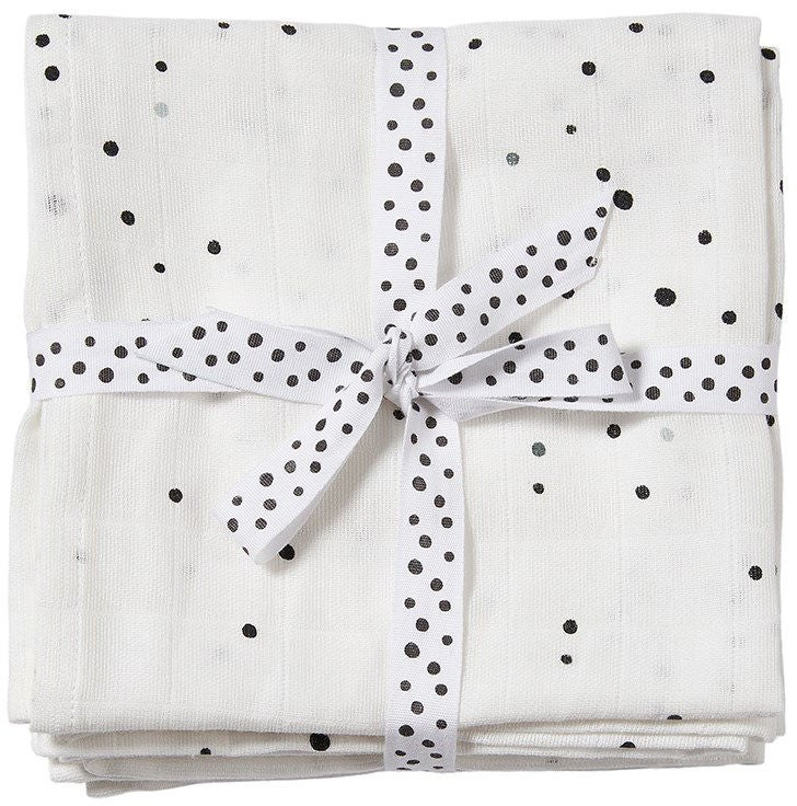 Done By Deer Teppe Dreamy Dots 120x120 2-pack, White