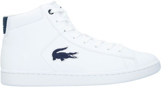 Lacoste Carnaby Evo Mid 3181 Sneaker, White/Navy