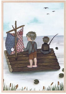 That's Mine Poster Raft Fishing 30x40