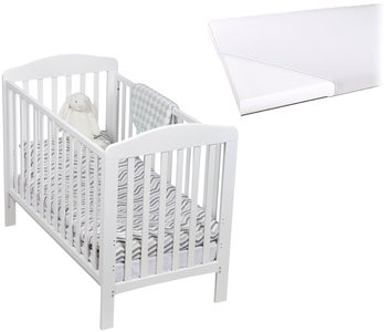 JLY Dream Lux Sprinkelseng Dropside med Babymatex Madrass 60x120, Hvit